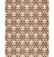 Brown wallpaper pattern vector image