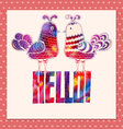 Card Hello vector image