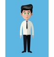 cartoon business man employee office work vector image