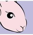 Easter pink Rabbit animal cartoon vector image