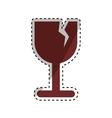 Fragile broken cup symbol vector image