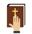 justice books isolated icon vector image