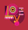 LOVE art poster vector image