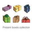 Present boxes collection vector image