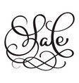 sale calligraphy word on white background hand vector image