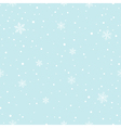 Snowflakes Falling Seamless Pattern vector image