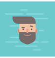 Trendy flat hipster character portrait vector image