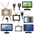 set of tv vector image
