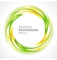 Abstract green and yellow swirl circle bright vector image