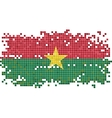 Burkina Faso grunge tile flag vector image vector image