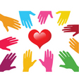 caring hand vector image