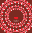 Little Heart Circle Background vector image
