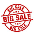 big sale round red grunge stamp vector image