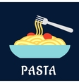 Bowl of healthy Italian pasta vector image