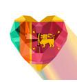 crystal gem flag of the sri lanka vector image