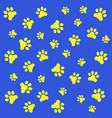 foot prints of dogs vector image