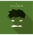 Mask Villain flat style icon logos vector image