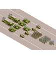 military parade isometric composition vector image