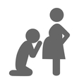 Pregnant woman and her husband pictogram flat icon vector image