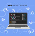 programming and coding programming languages web vector image