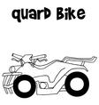 Quard bike of art vector image