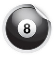 round sticker with pool ball vector image