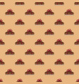 seamless pattern pie with red ribbon in orange vector image