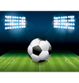 Soccer Football on Stadium Field vector image