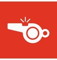 The whistle icon Referee symbol Flat vector image