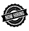 Now hiring stamp vector image