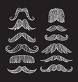 set of hand drawn old fashion mustaches black vector image