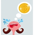 Girl cries about money vector image