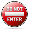 Do not enter - one way vector image
