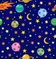 cartoon dark space pattern vector image vector image