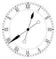 clock old black vector image vector image