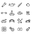 thin line icons - car vector image