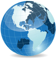 abstract blue globe vector image