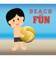 Beach design vector image