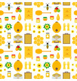 cartoon honey background pattern vector image