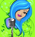 cartoon singer vector image