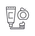 cleaning teethbrush toothpaste dental floss vector image