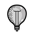 grayscale power bulb light and energy electricity vector image