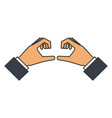 hands forming a heart vector image