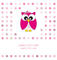 owl pink vector image