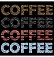 Set of Coffee Cups Pattern Decorative Design Text vector image