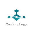 square technology logo vector image