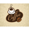 coffee cup and grain vector image