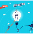 business innovation marketing concept vector image