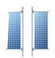 solar panels ecological power sources set vector image
