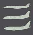 Aircraft silhouettes side view part 2 vector image vector image